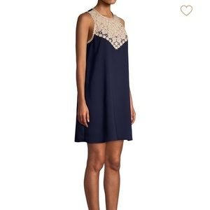NWT Lilly Pulitzer navy and gold dress